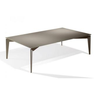 Table basse ROCKY en verre taupe