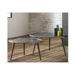 Lot de 2 Tables basses SABLI GM design coule sable