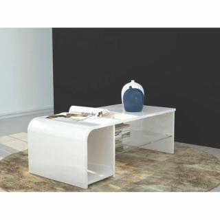 Table basse / meuble TV S-TIME design blanc