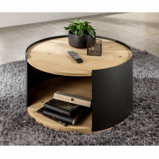 Table basse design STYLE  Chêne/Anthracite
