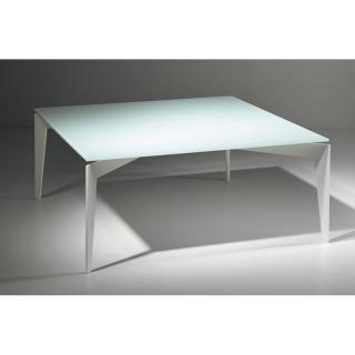 Table basse TOBIAS en verre blanc