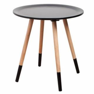 ZUIVER Table basse  TWO TONE, noire.