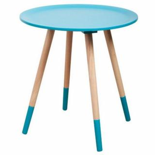 ZUIVER Table basse  TWO TONE, bleue.