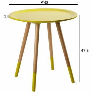table basse carr e ronde ou rectangulaire au meilleur prix zuiver table basse two tone jaune. Black Bedroom Furniture Sets. Home Design Ideas