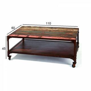 table basse carr e ronde ou rectangulaire au meilleur prix table basse unique rainbow en bois. Black Bedroom Furniture Sets. Home Design Ideas