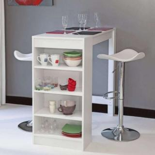 bars tables et chaises table de bar dolar blanche inside75. Black Bedroom Furniture Sets. Home Design Ideas