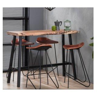 Table de bar EDGE 125cm en acacia massif