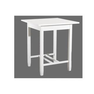 Table de Bar EVA en Bois Blanc Style Charme Colonial