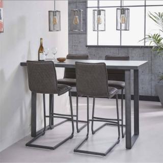 Table de bar 140*70 cm KOVINA style industriel en acier
