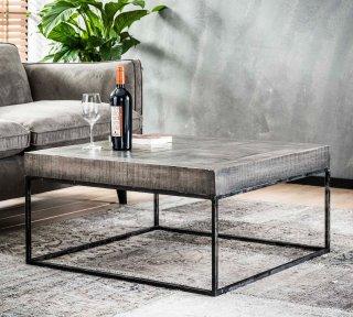 Table de salon GRADO en bois de manguier 80cm x 80cm