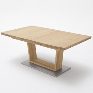 Table extensible rectangulaire CATANE 140 x 90 cm chêne massif sauvage