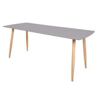 Table repas extensible design scandinave RIO 140*80 cm grise de 6 à 10 couverts