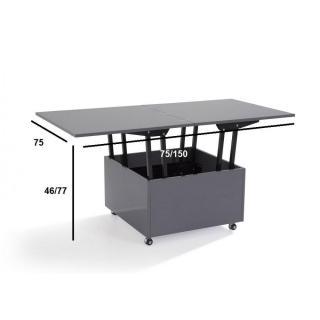 Table basse carr e ronde ou rectangulaire au meilleur prix table basse relevable extensible - Table basse relevable grise ...