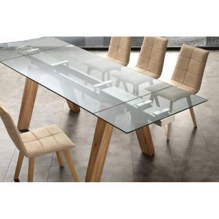 Table repas extensible CARONTE en verre