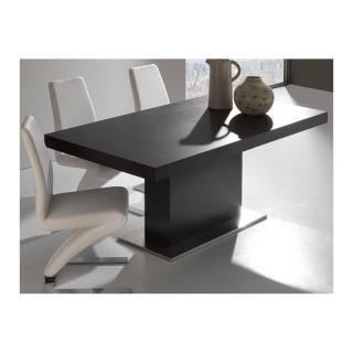 Table repas design extensible DOMUS wengé