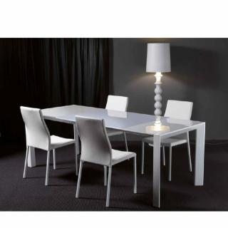 Table repas extensible LONDON BEAT en verre