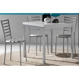 Table repas extensible WEB design 80*160/80 cm blanche