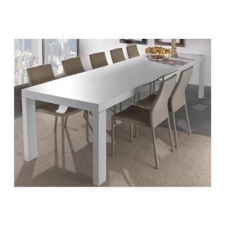 Table repas extensible WIND design blanc 140 cm