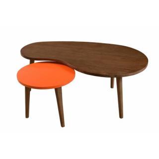 Table Gigogne LUCAS Bicolore Style Colonial en Mindi