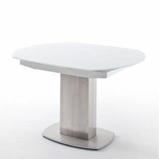 Table extensible ZILIA 130 x 105 cm verre blanc