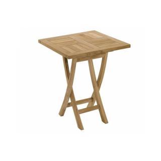 Table carrée pliante de jardin 60*60 cm en teck