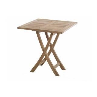 Table carrée pliante de jardin 70*70 cm en teck
