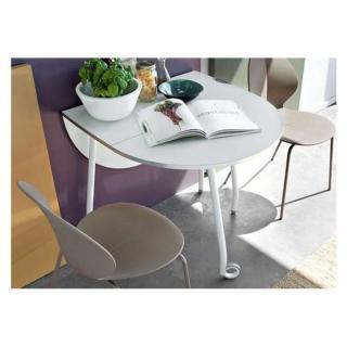 Table pliante modulable BLITZ  blanche avec roulettes