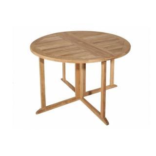 Table ronde pliante modulable BUTTERFLY en teck