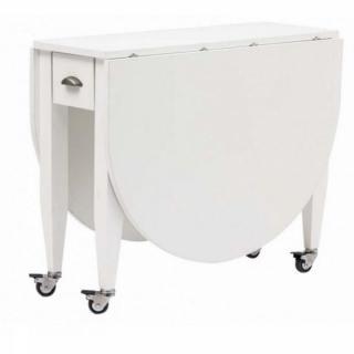 tables repas meubles et rangements table pliante open blanche en hetre inside75. Black Bedroom Furniture Sets. Home Design Ideas