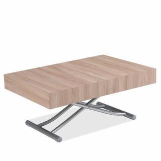 Table basse relevable extensible ALBATROS design en Chêne Pied alu