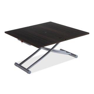 Table basse relevable COLIBRI ultra compacte mélaminé bois wengué 100*45 cm