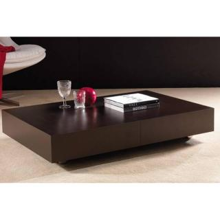 Table basse relevable extensible BLOCK design wengé