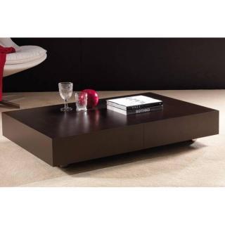 Table basse relevable extensible BLOCK design wengé