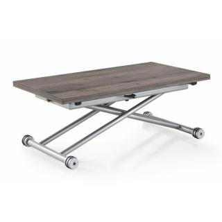 Table basse UPDOWN relevable extensible chêne gris vintage