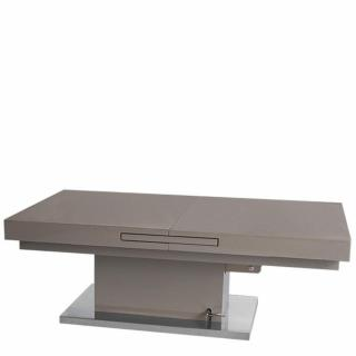 Table basse relevable extensible SETUP taupe