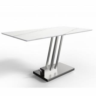Table basse relevable BRAVO MARBLE WHITE marbre blanc