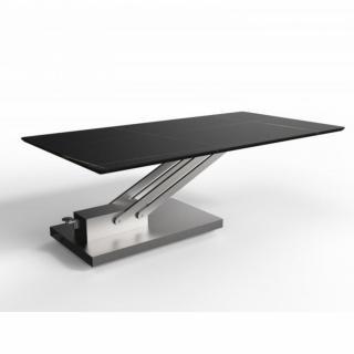 Table basse relevable BRAVO MARBLE BLACK en céramique/marbre