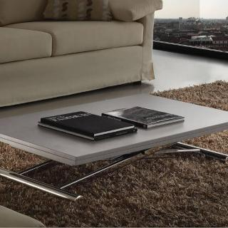 Table basse relevable extensible LIFT WOOD gris béton