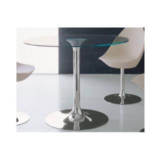 Table repas rond ARMONY en verre