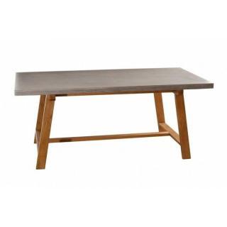 Table repas béton NINO 180 x 90 cm en chêne style industriel