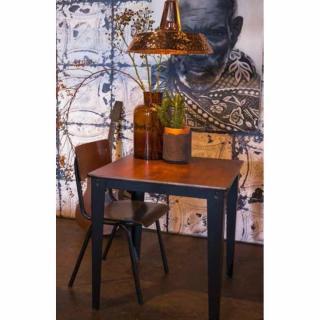 DUTCHBONE Table repas carrée SCUOLA 70 x 70 cm