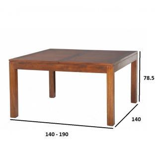 tables design au meilleur prix table repas extensible lauren 140 x 140 cm en mindi inside75. Black Bedroom Furniture Sets. Home Design Ideas