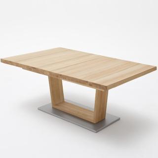 Table extensible rectangulaire CATANE 140 x 90 cm coeur de hêtre massif
