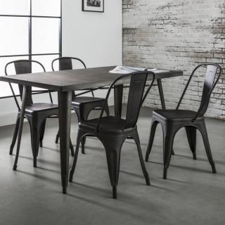 Table repas 140*80 cm INDUSTRY style industriel en acier