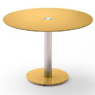 table de repas design au meilleur prix table repas ronde design faten en verre jaune inside75. Black Bedroom Furniture Sets. Home Design Ideas