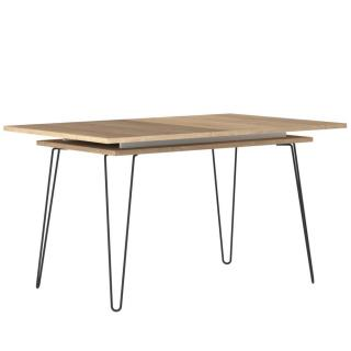 Table repas 6-8 couverts design scandinave LACKBERG chêne naturel une allonge