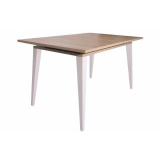 Table repas design scandinave SQUARE une allonge