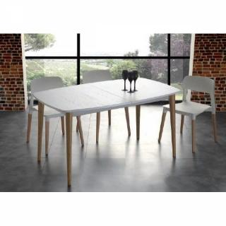 Table repas extensible OLAF 135*185/83 cm blanche