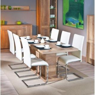 table de repas design au meilleur prix table repas extensible absoluto chene inside75. Black Bedroom Furniture Sets. Home Design Ideas