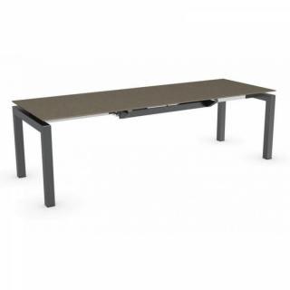 tables design au meilleur prix table repas extensible airport 130x90 plateau c ramique plomb. Black Bedroom Furniture Sets. Home Design Ideas